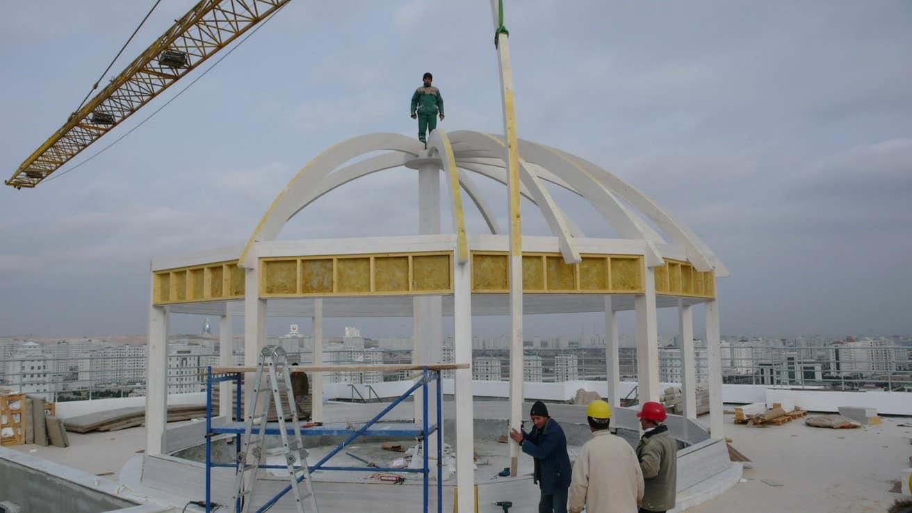 Ahşap Kubbe Türkmenistan