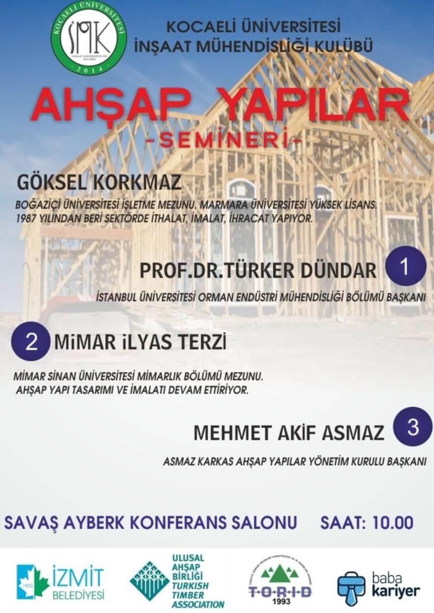Kocaeli Üniversitesi Ahşap Yapılar Semineri